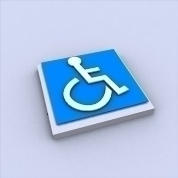 handicap sign 3d model 3ds max 110720