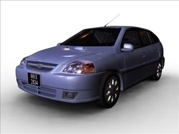kia rio 2003 3d model mb mb 80167