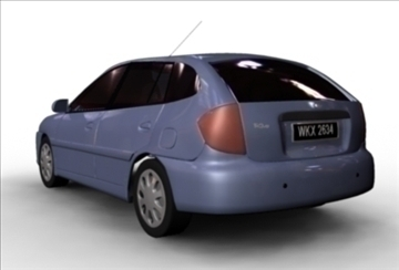kia rio 2003 3d model ma mb 80168