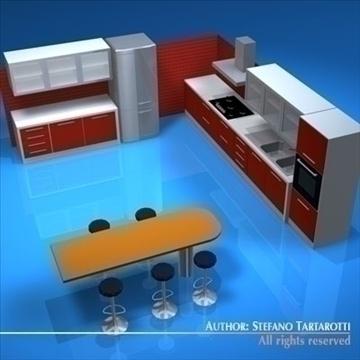 kitchen furniture 3d modelo 3ds dxf c4d obj 93911