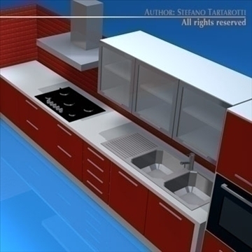 kitchen furniture 3d model 3ds dxf c4d obj 93914