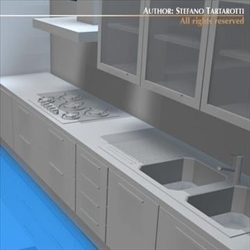 kitchen furniture 3d model 3ds dxf c4d obj 93915