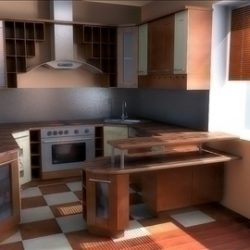 kitchen in classic style ( 71.82KB jpg by PrintF )