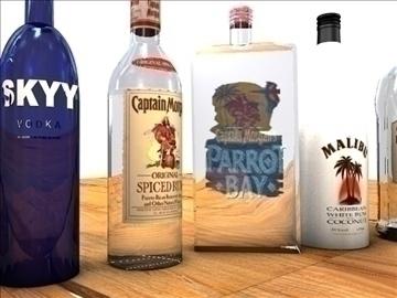 liquor bottle package 3d model 3ds c4d texture 109124