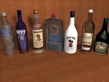 liquor bottle package 3d model 3ds c4d texture 109125