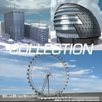 london building collection 3d model 3ds dxf c4d obj 102618