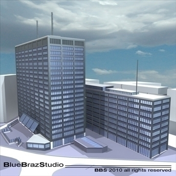 london building collection 3d model 3ds dxf c4d obj 102625