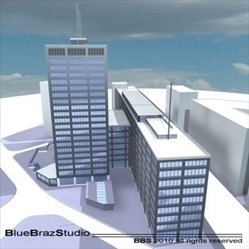 london building collection 3d model 3ds dxf c4d obj 102627
