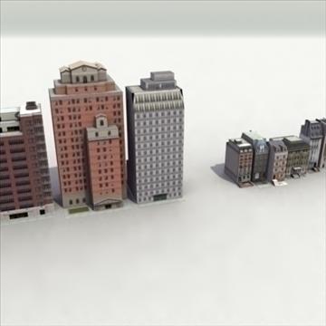 lowbuildings_set 01_3dgamemodels 3d model 3ds max fbx lwo ma mb hrc xsi texture obj 100547