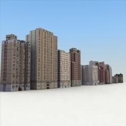 LowBuildings_Set 01_3DGameModels ( 68.79KB jpg by 3DArtisan )