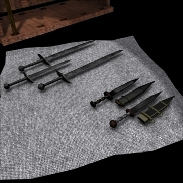 medieval set 3d model 3ds max obj 82539