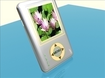 mp3 player 3d model max dxf wrl wrz obj 92500