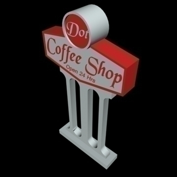 neon billboards collection 3d model 3ds 96059