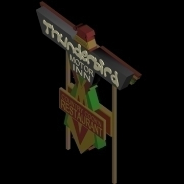 neon billboards collection 3d model 3ds 96060