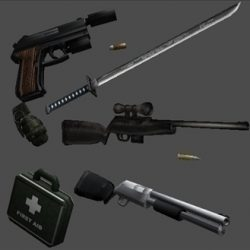 3D Models Weapons Pack for Games ( 39.86KB jpg by newhere )
