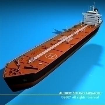 oil platform with tankership 3d model 3ds dxf c4d obj 86708