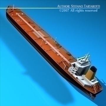 oil platform with tankership 3d model 3ds dxf c4d obj 86709