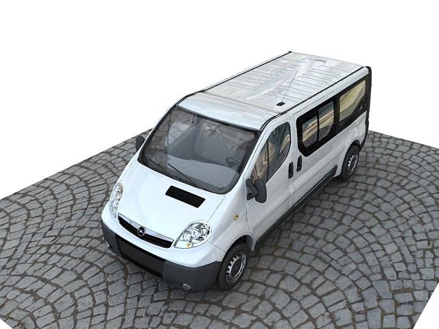 opel vivaro truck collection 3d model max 117850