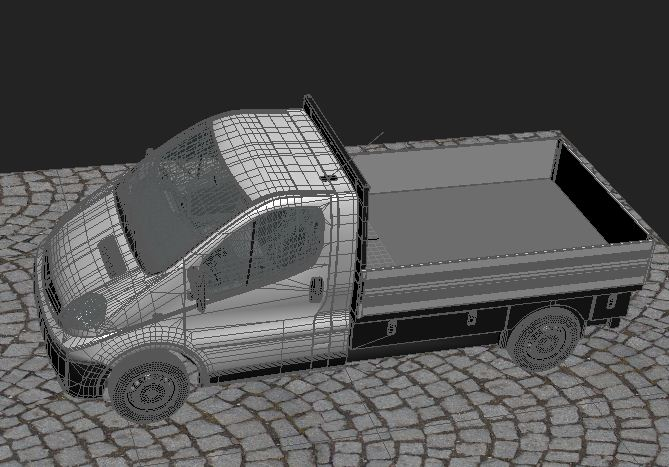 opel vivaro truck collection 3d model max 117855