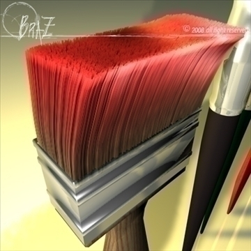 paint brushes 3d model c4d 109478