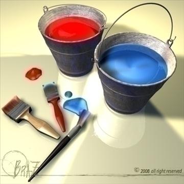 paint tools 3d model c4d 109488