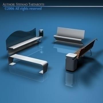 park benches collection 3d model 3ds dxf c4d obj 78039
