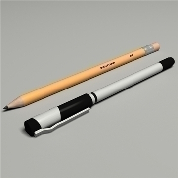 pen pencil set 3d model max lwo obj 106262