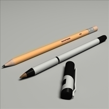 pen pencil set 3d model max lwo obj 106263