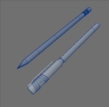 pen pencil set 3d model max lwo obj 106264