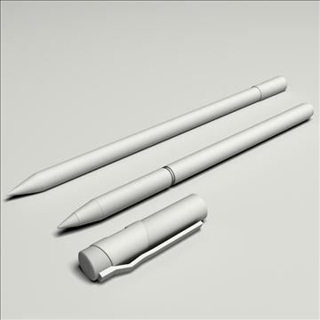 pen pencil set 3d model max lwo obj 106265