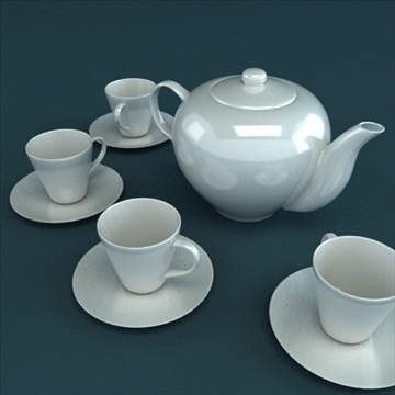 porcelain tea set 3d model 3ds max obj 98852