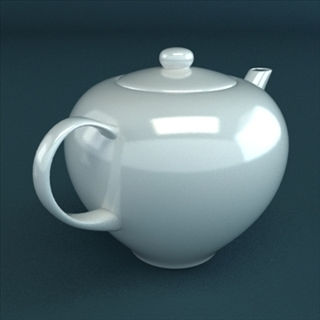 porcelain tea set 3d model 3ds max obj 98854
