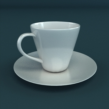 porcelain tea set 3d model 3ds max obj 98855
