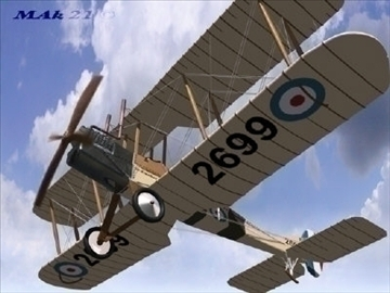 royal aircraft factory be2c high definition 3d model max fbx jpeg jpg obj 86902