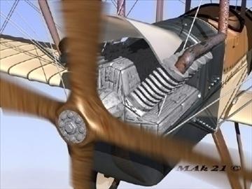 royal aircraft factory be2c high definition 3d model max fbx jpeg jpg obj 86903
