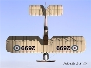 royal aircraft factory be2c high definition 3d model max fbx jpeg jpg obj 86905