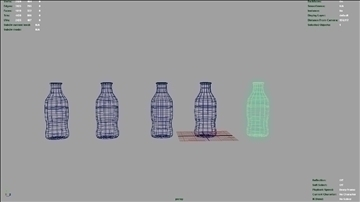 soda bottles x5 3d model ma mb 106565