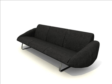 sofa_3pieces 3d model 82777