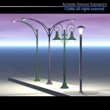 street lamps set 3d model 3ds dxf other obj 78391