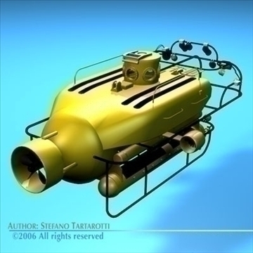 submarine collection 3d model 3ds dxf c4d obj 84172
