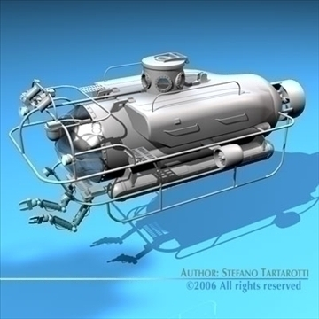 submarine collection 3d model 3ds dxf c4d obj 84173
