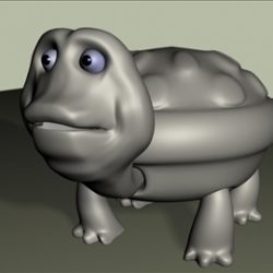 Tortoise Low Poly ( 45.59KB jpg by vivek3d )