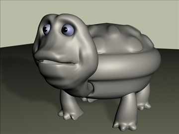 tortoise aşağı poly 3d model 3ds 94108