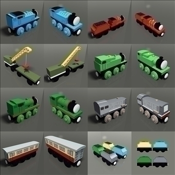 toy train pack 03 3d model max 81798