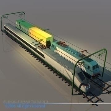 trains set 3d model 3ds dxf obj other 78341