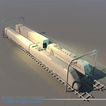 trains set 3d model 3ds dxf obj other 78342
