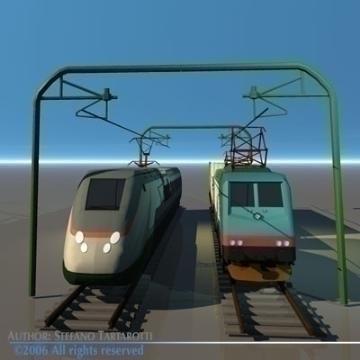 trains set 3d model 3ds dxf obj other 78346