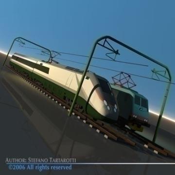 trains set 3d model 3ds dxf obj other 78347