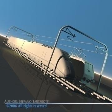 trains set 3d model 3ds dxf obj other 78348