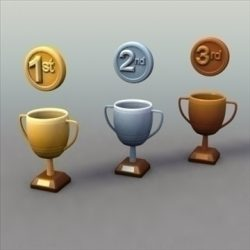 Trophiesx3_3dModels ( 65.49KB jpg by 3DArtisan )